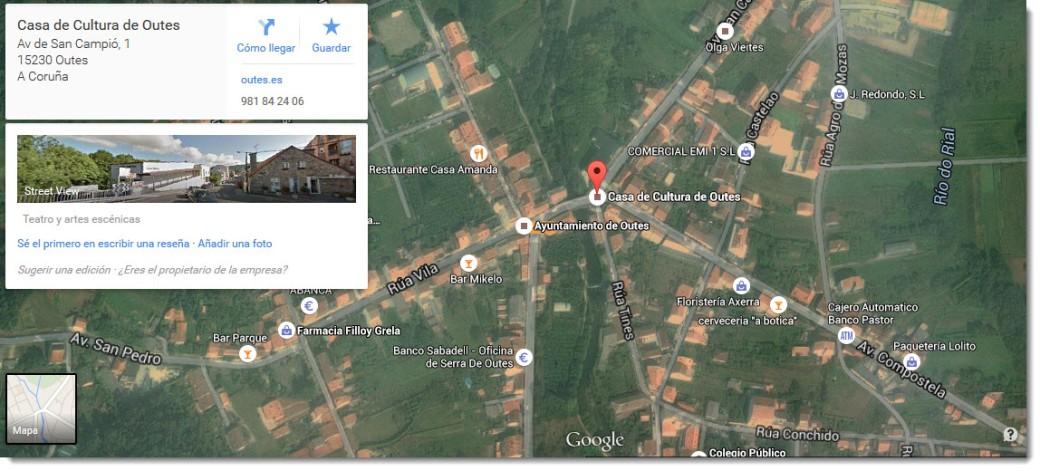 Casa da cultura Google Maps